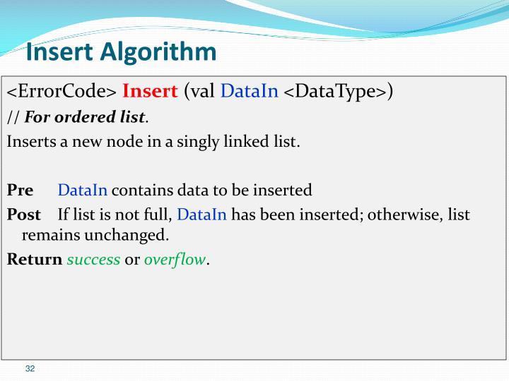 Insert Algorithm