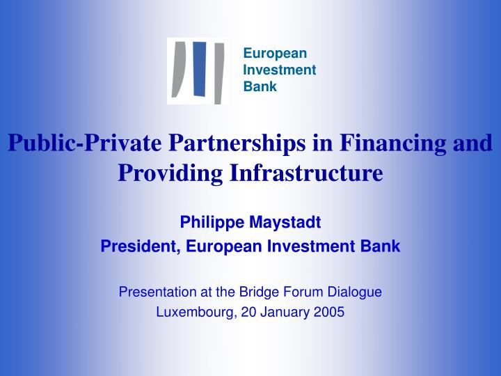 public private partnerships in financing and providing infrastructure n.