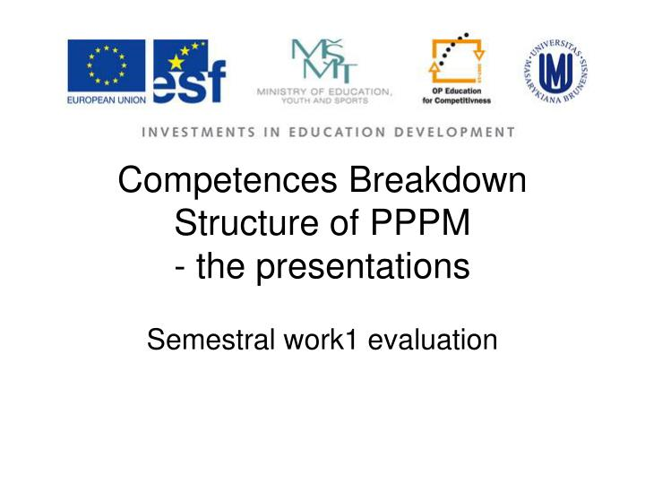 competences breakdown structure of pppm the presentations n.