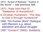 1971 synod of bishops justice in the world see previous talk