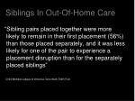 siblings in out of home care