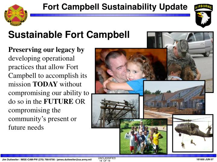 Sustainable Fort Campbell