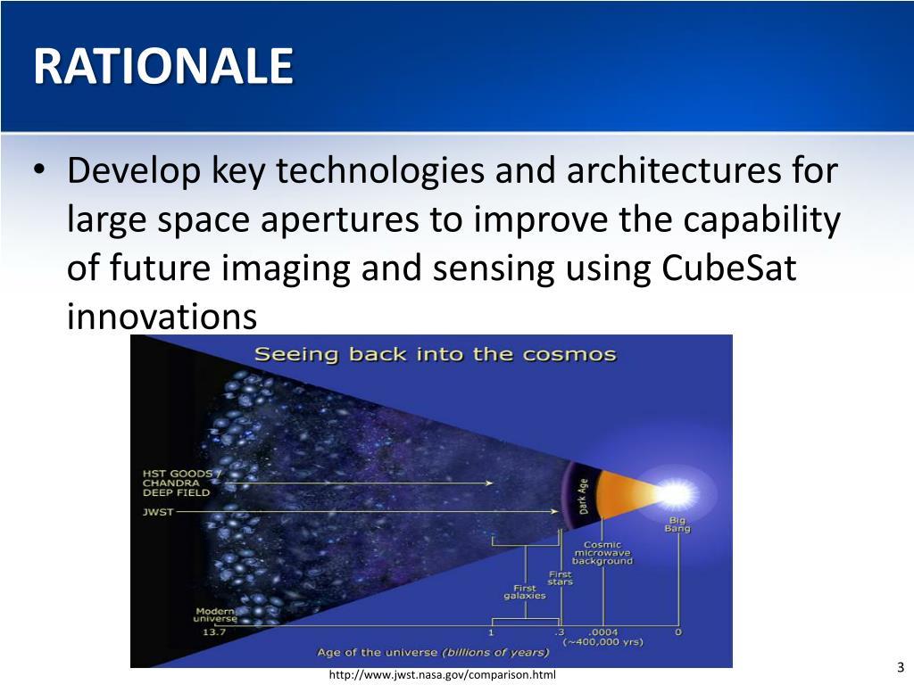 PPT - Autonomous Large Distributed CubeSat Space Telescope