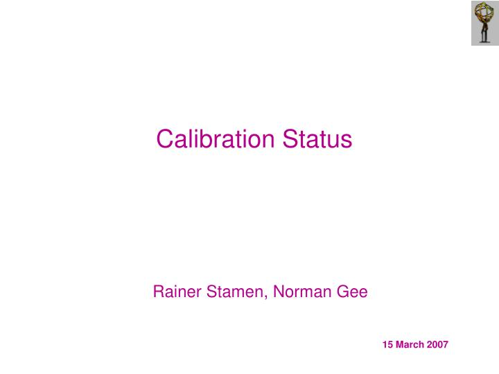 calibration status n.