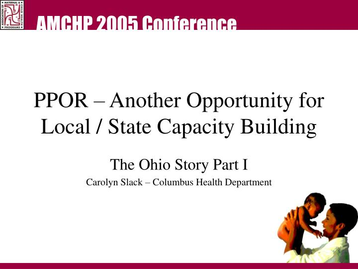 ppor another opportunity for local state capacity building n.