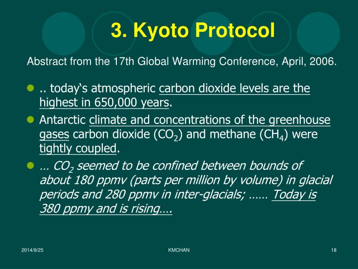 Abstract from the 17th Global Warming Conference, April, 2006.