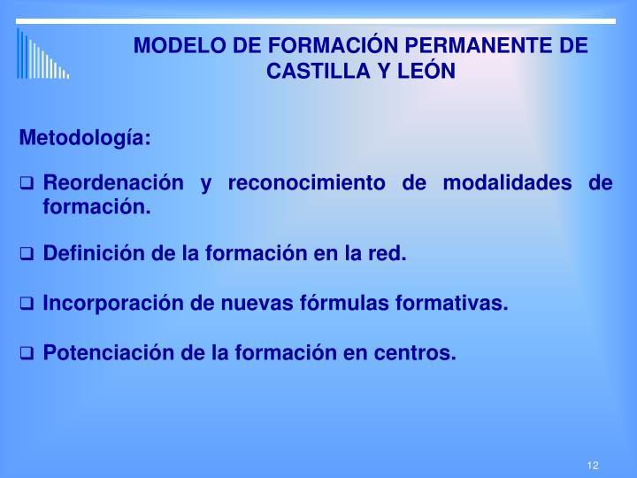 MODELO DE FORMACIÓN PERMANENTE DE CASTILLA Y LEÓN