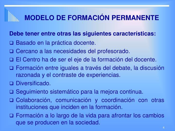MODELO DE FORMACIÓN PERMANENTE