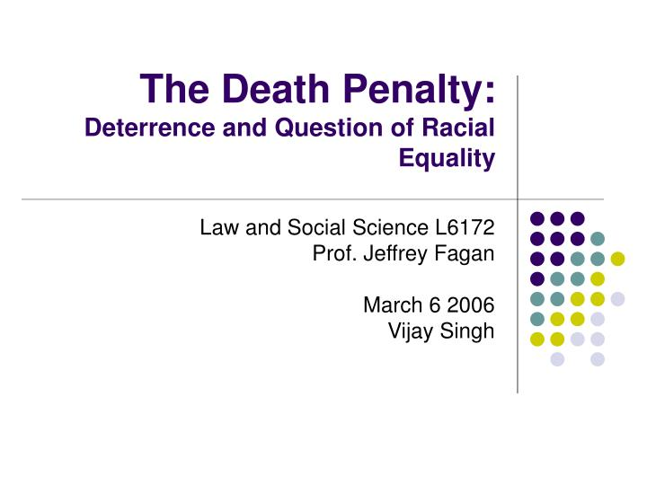 deterrence and the death penalty To the editor: vote no on proposition 62, the ballot measure that would abandon california's death penaltyit's not about vengeance it's.