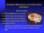 el impacto hipertensivo y los lechos arterio arteriolares21