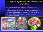 el impacto hipertensivo y los lechos arterio arteriolares27