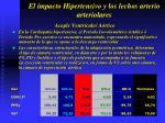 el impacto hipertensivo y los lechos arterio arteriolares34