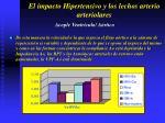 el impacto hipertensivo y los lechos arterio arteriolares38