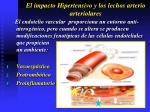 el impacto hipertensivo y los lechos arterio arteriolares8