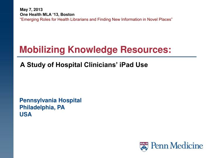 mobilizing knowledge resources n.