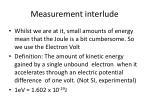 measurement interlude