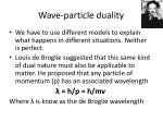 wave particle duality1