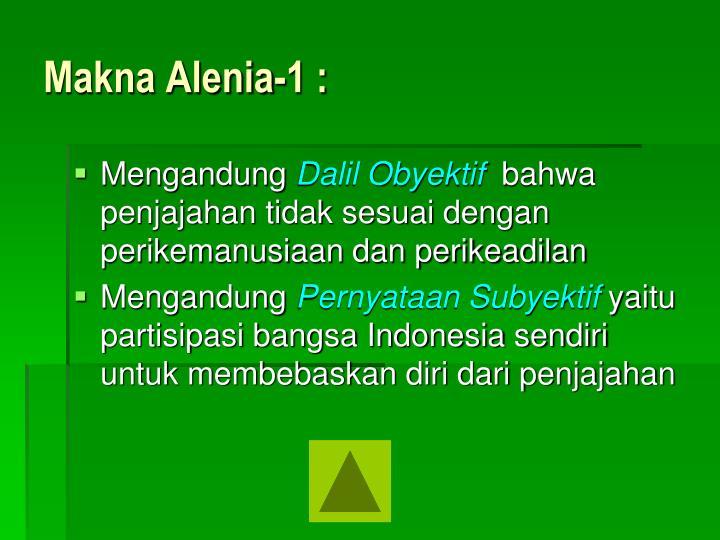 Makna Alenia-1 :
