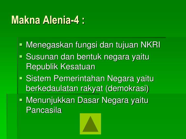 Makna Alenia-4 :