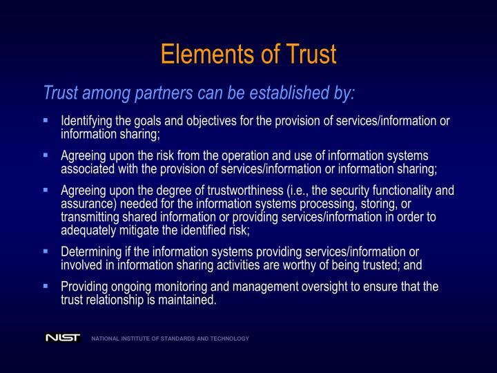 Elements of Trust