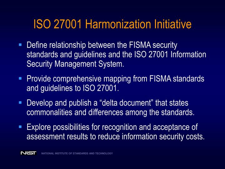 ISO 27001 Harmonization Initiative