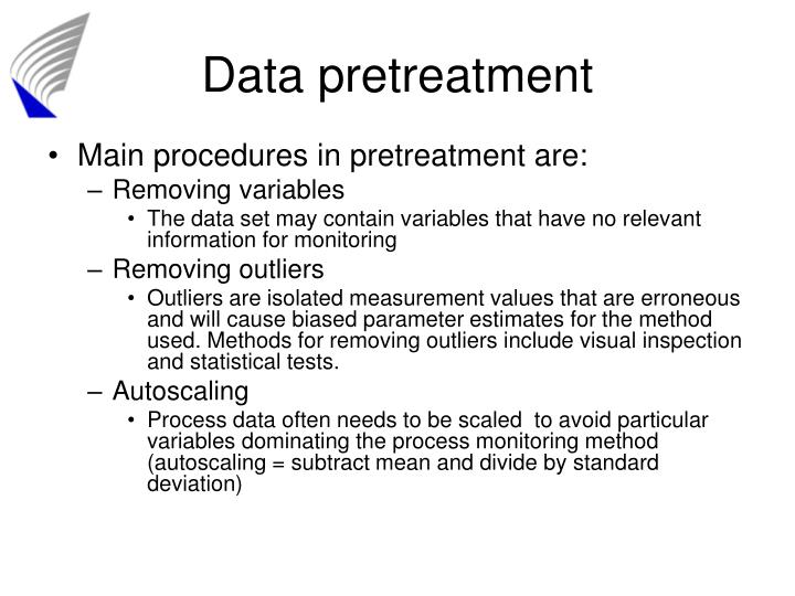 Data pretreatment