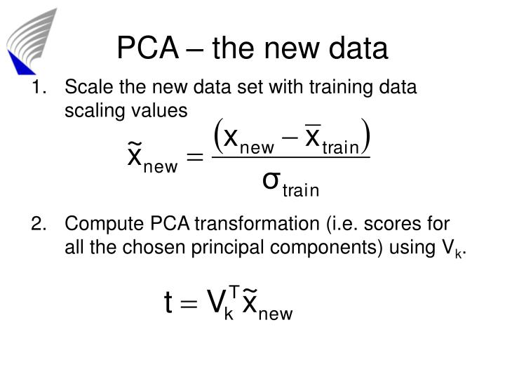 PCA – the new data