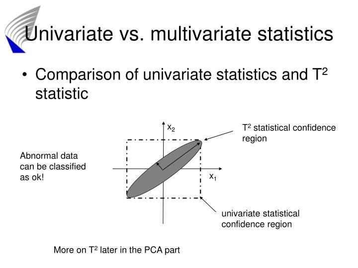 Univariate vs. multivariate statistics