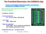 the front end electronics the carioca chip