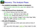 recovery the analysis phase