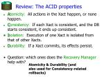 review the acid properties