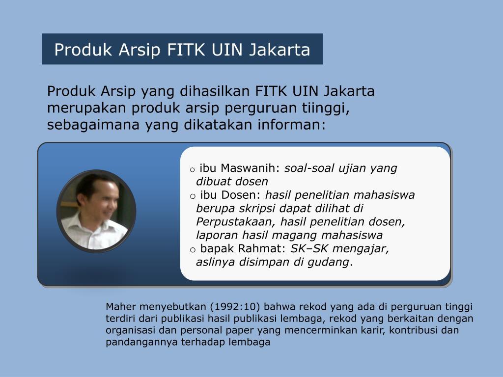 Ppt Penilaian Arsip Makro Fakultas Ilmu Tarbiyah Dan Keguruan