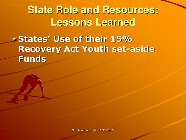 state role and resources lessons learned n.