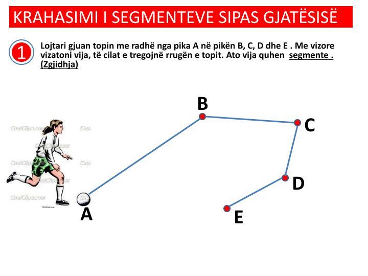 Krahasimi i segmenteve sipas gjat sis1