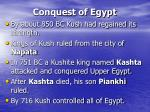 conquest of egypt