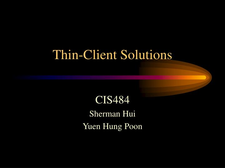 thin client solutions n.