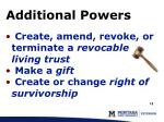 additional powers