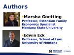 marsha goetting professor extension family economics specialist montana state university