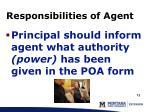 responsibilities of agent