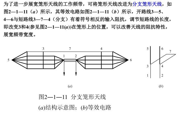 为了进一步展宽笼形天线的工作频带,可将笼形天线改进为