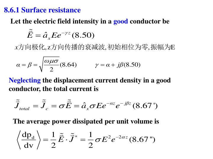 8.6.1 Surface resistance