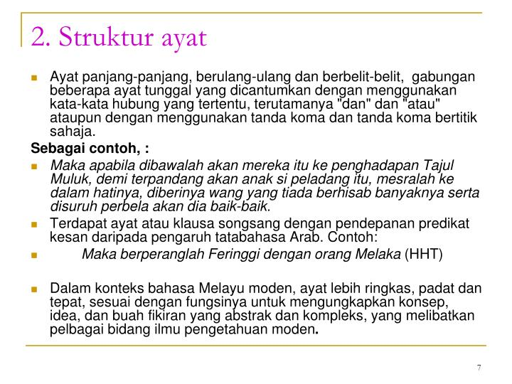2. Struktur ayat