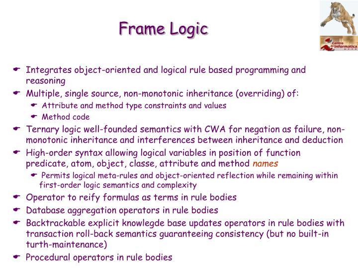 Frame Logic