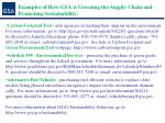 examples of how gsa is greening the supply chain and promoting sustainability