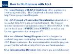 how to do business with gsa