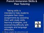 french immersion skills peer tutoring