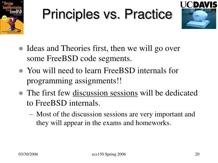 Principles vs. Practice