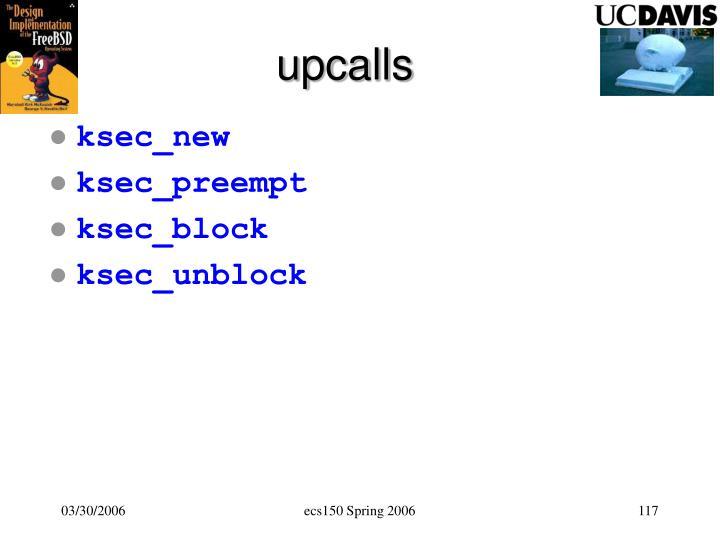 upcalls