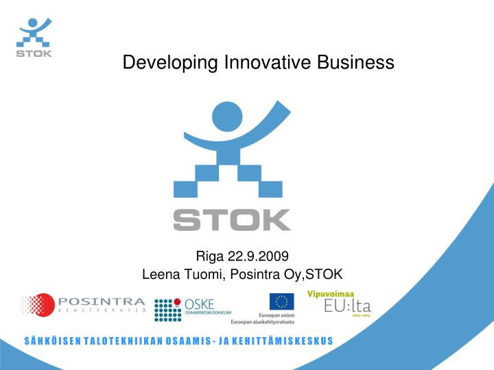 developing innovative business n.