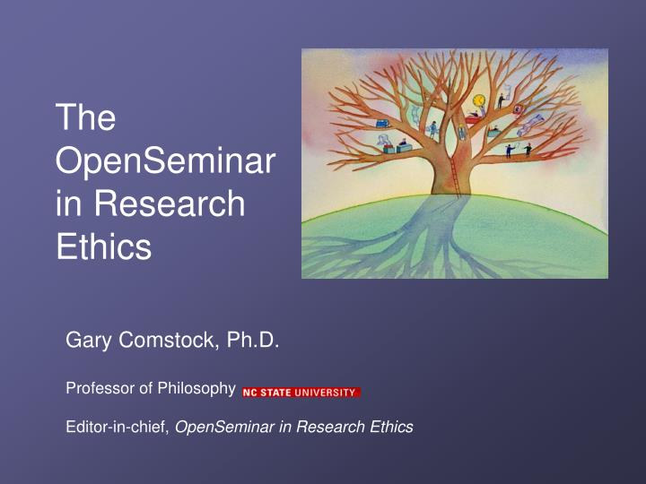 the openseminar in research ethics n.